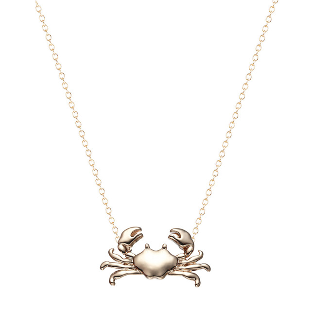 e501edc7823 Kinitial 10Pcs Silver Gold Cute Maryland Crab Pendant Necklace Cancer  Zodiac Necklace   Pendant Horoscope Sign On 16   Chain