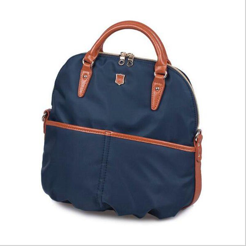 ФОТО 2017 New nylon women bags multi-functional Japanese trend simple shoulder bag Oxford handbag nylon black canvas handbags