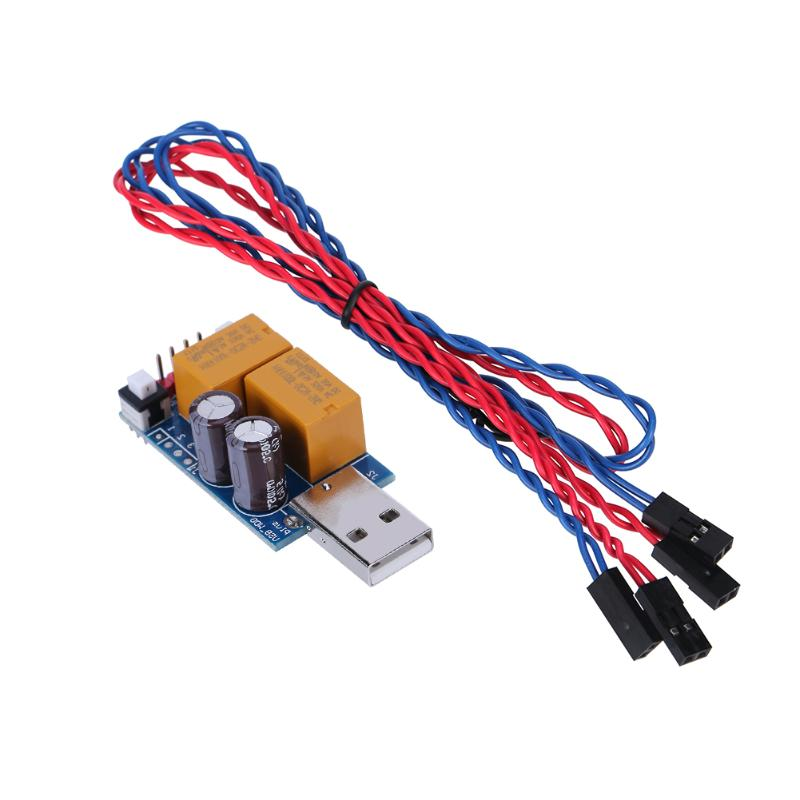 все цены на ALLOYSEED USB Watchdog Card Module Timer Double  Buttoon Boot Blue Screen Restart For Computer PC Mining Miner Games онлайн