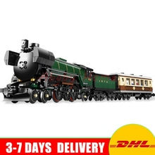 In Stock LEPIN 21005 Technic Series Emerald Night Train Model Building Kit Block Bricks Compatible Toy For Children Gifts 10194