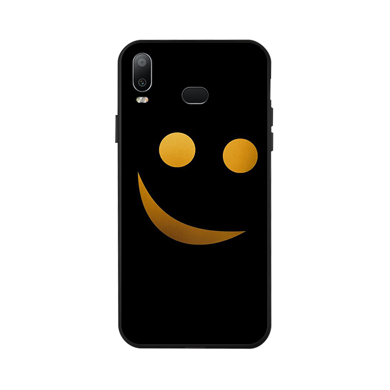 Ojeleye Fashion Black Silicon Case For Samsung Galaxy A6s Cases Anti knock Phone Cover For Samsung A6s G6200 Covers in Fitted Cases from Cellphones Telecommunications