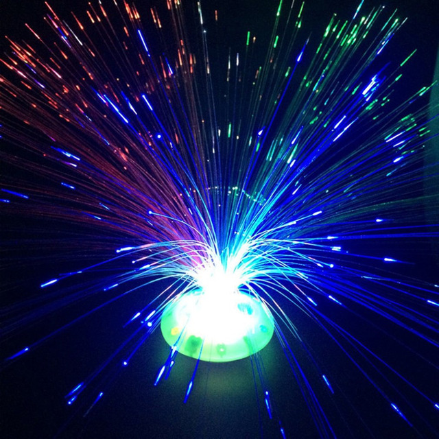 Icoco Color Changing Led Fiber Optic Nightlight Battery Ed Christmas Lamp For Party Home Decoration