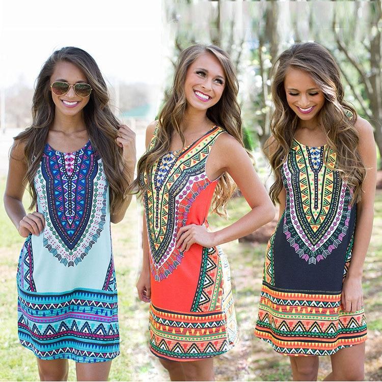 Весна и лето 2019, мода, новый стиль, Африканский Национальный стиль, тонкий и РЕТРО ПРИНТ круглый манжета без рукавов