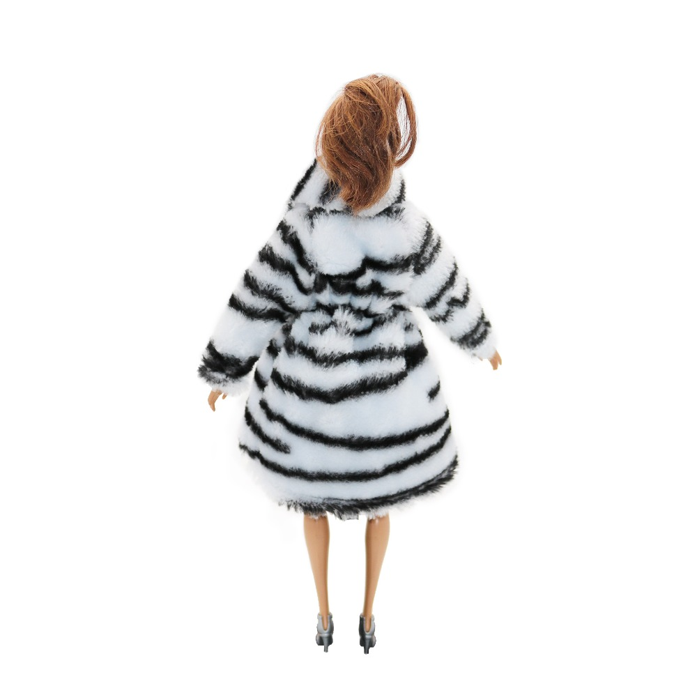 1PCS Fashion Woolen Coat for Barbie Doll Clothes Accessories Play House Dressing Up Costume Kids Toys Gift in Dolls Accessories from Toys Hobbies