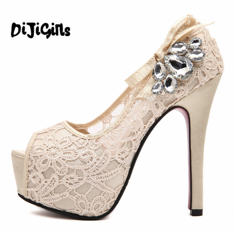 Summer  new hot European brand style Ladies sexy rhinestone lace wedding shoes high heels platform pumps for women rh hot sale brand ladies pumps sexy women high heels platform sexy women high heel pumps wedding shoes free shipping 2888 1