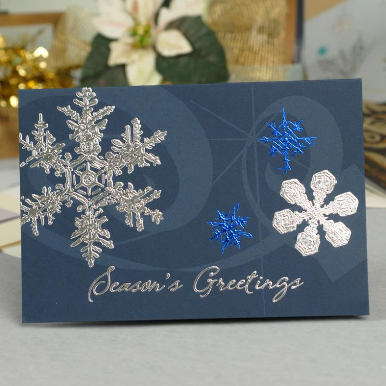 2014 new art embossed Christmas new year greeting cards, high end ...