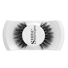 SHIDISHANGPIN  1 pairs false eyelashes natural long hand made lashes 3D mink makeup box