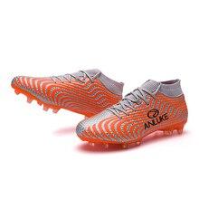 37c7e20aea2d2 Venta caliente AG pico alto tobillo fútbol zapatos de césped al aire libre hombres  botas de fútbol zapatos de futbol original .