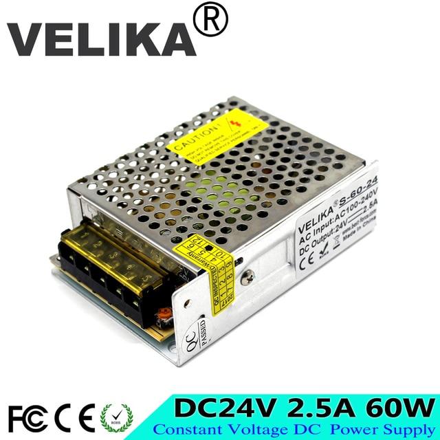 AC-DC 24V 2.5a 60W Switching Power Supply Led Transformer 220V 110V to dc24V Adjustable Power Source for LED Light LED Display