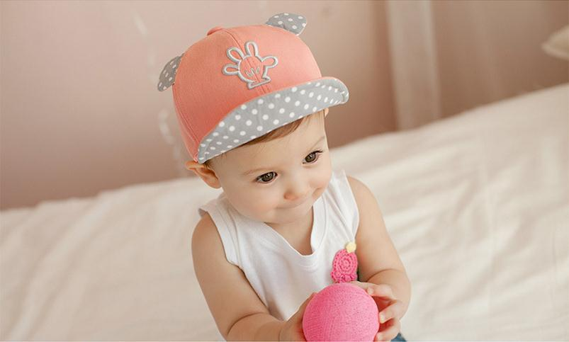 Hot 2015 Autumn Caps Snapback Girl Palm Small Ears Embroidery Baby Girl  Baseball Hats Baby Boy Kawaii Caps Unisex High Quality-in Hats   Caps from  Mother ... 47f773840cf