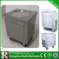 The 110V single pan fried ice cream roll machine with R404A / R410A refrigerant
