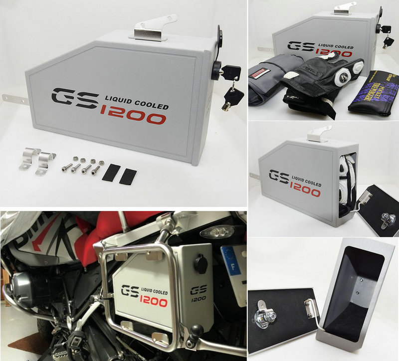For BMW R1200GS LC Adventure tool box 2013 2018 decorative Aluminum tool box 5 liters for left hand bracket r1200gsa 14 18-in Covers & Ornamental Mouldings from Automobiles & Motorcycles