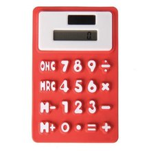GTFS-Pocket solar Office silicone Red 8 digit calculator