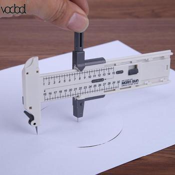 Kompas frez okrągły koło nóż termokurczliwe Film cięcia Patchwork narzędzie Film Vinyl gumy skóry kuter narzędzia ręczne