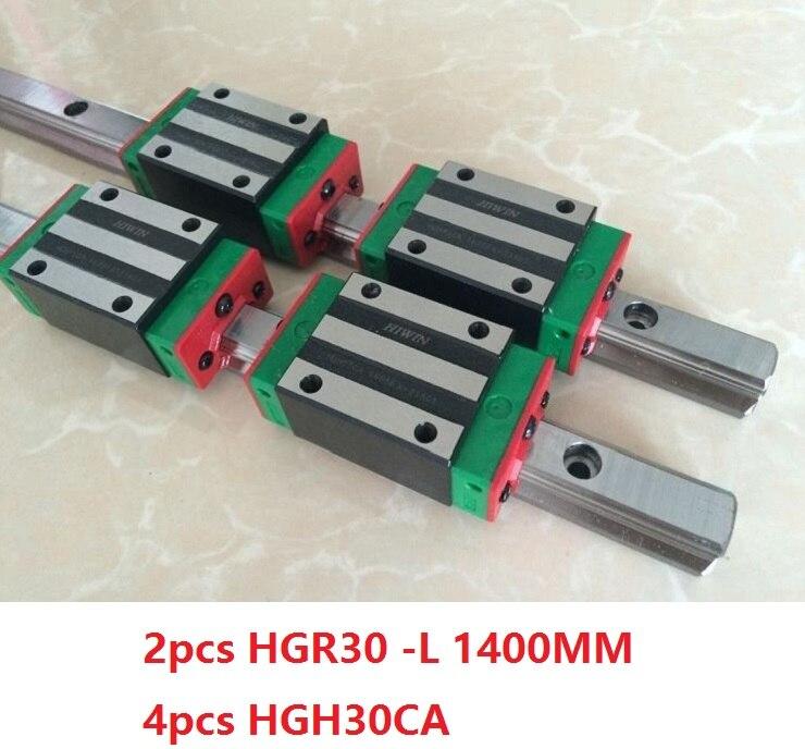 2 pz 100% originale Hiwin guida lineare HGR30-L 1400mm + 4 pz HGH30CA stretto blocco per cnc router2 pz 100% originale Hiwin guida lineare HGR30-L 1400mm + 4 pz HGH30CA stretto blocco per cnc router