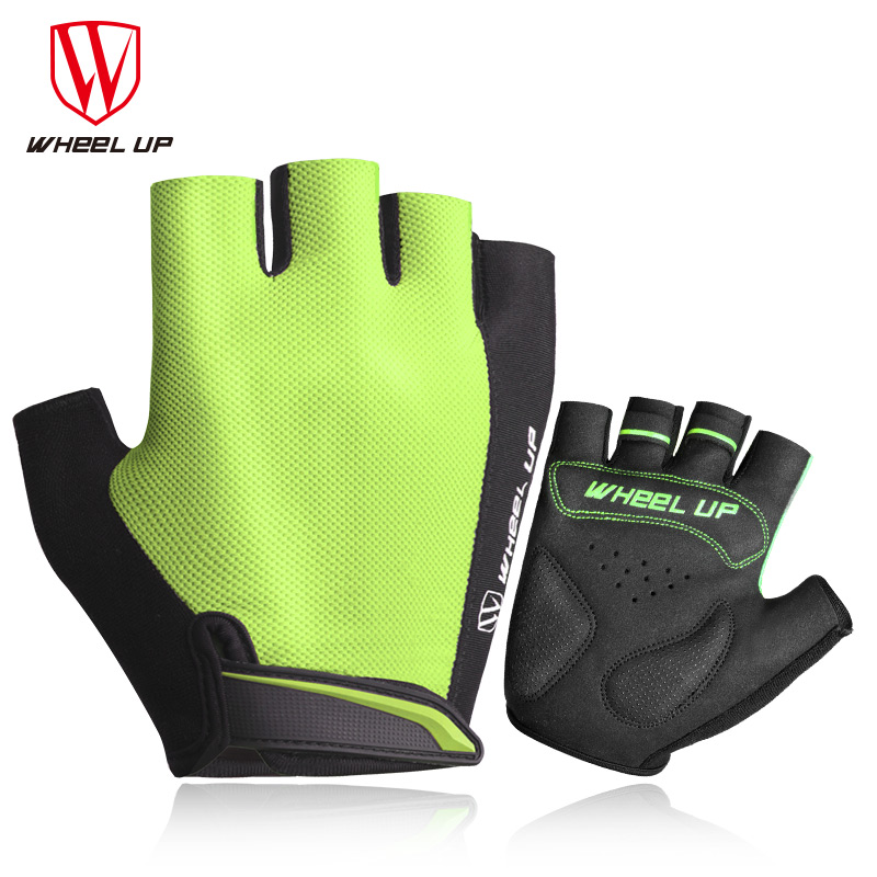 WHEEL UP Cycling Gloves Half Finger Bicycle Gloves MTB Summer Shockproof Sport Bike Gloves Breathable Lycra Guantes Ciclismo