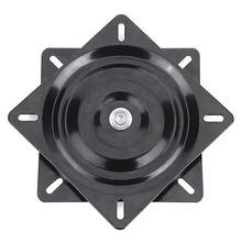 Черный металл 6 дюймов 360 градусов вращающийся квадратный сиденье проигрыватель используется для 360 градусов вращение универсальный программатор сиденья 15,4*15,4*2 см
