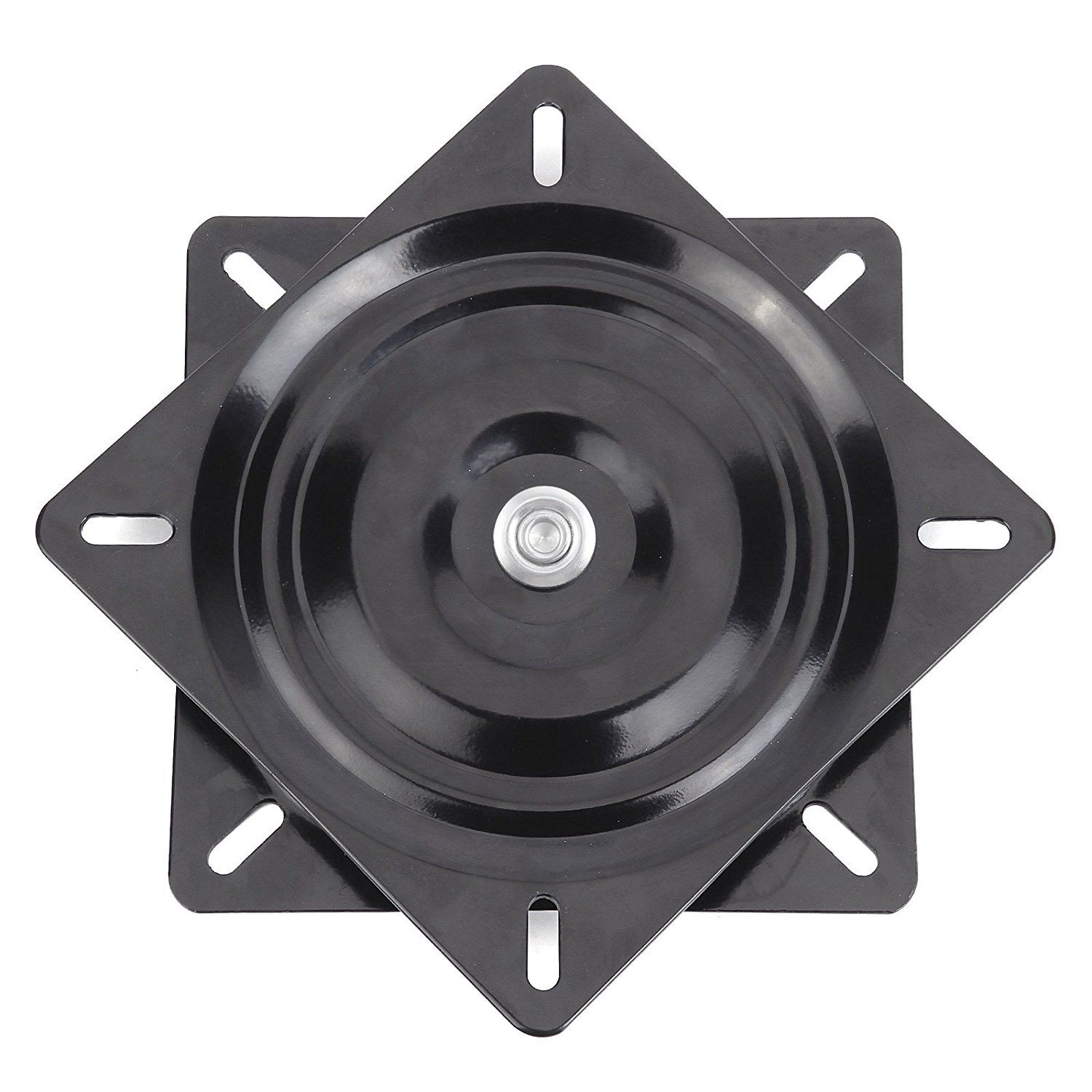 Black Metal 6 inch 360 degree rotating square seat turntable used for 360 degree rotation universal seat 15.4*15.4*2cm