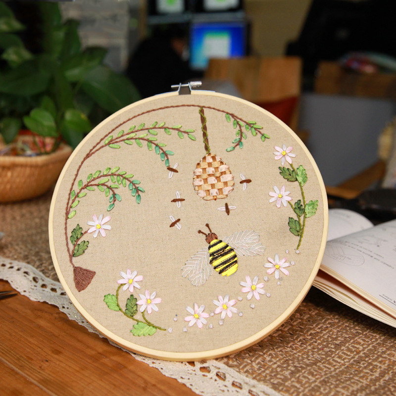 Wooden Frame Cross Stitch Embroidery Hoop Ring Bamboo Sewing DIY 1PC