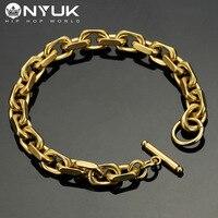 NYUK New Men S Cool Bracelet Cool Fashion Hip Hop Silver Gold Black Color High Grade