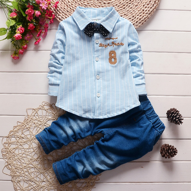 Baby Boy Clothing Set Baby Boys 2PCS Autumn Set Striped Shirts + ...
