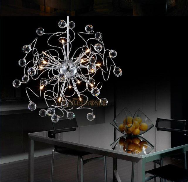 Floral K9 Kristall Anhänger Lampe Mit G4 Lichter Lüster Hängen Anhänger Licht Kristall Suspension Hängen Licht - 2