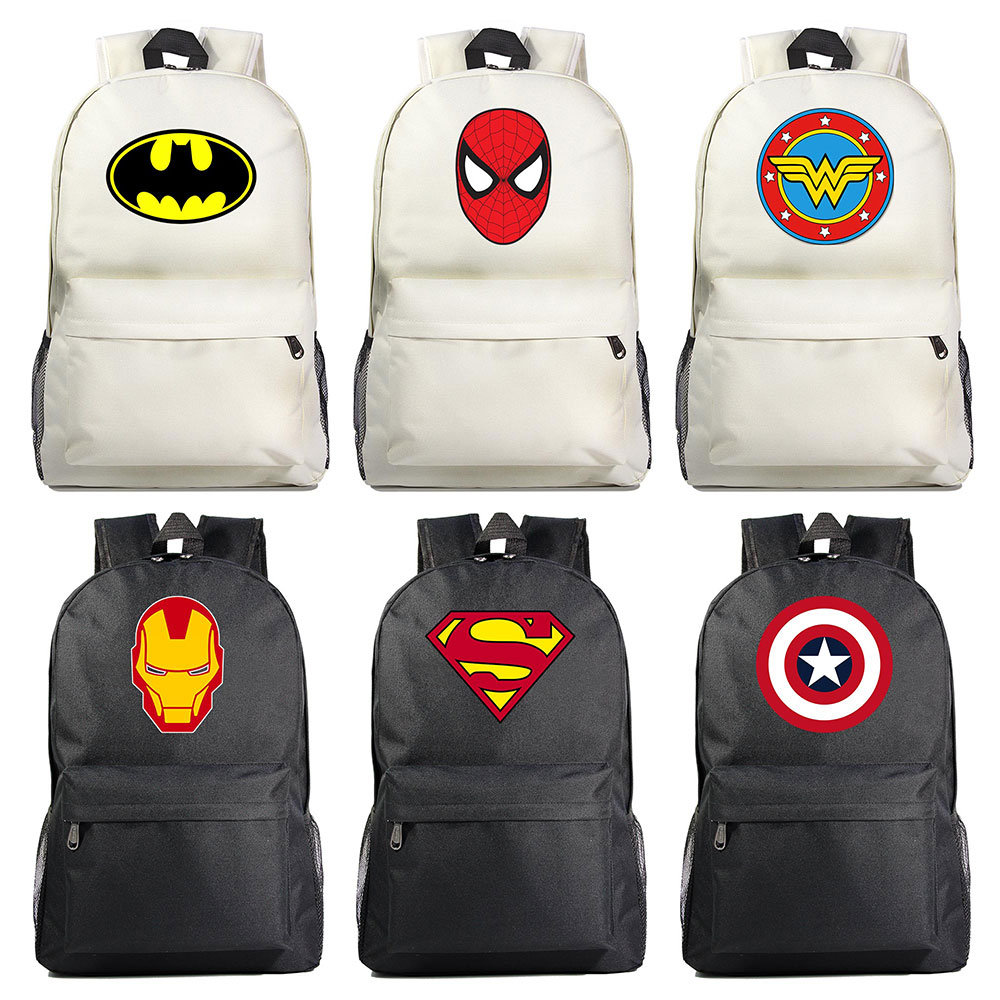 Roblox School Bag Rock Band Backpack Student School Bag Notebook Backpack Leisure Daily Backpack Superman Batman Spiderman Iron Man The Avenger Boy Girl Book School Bag Women Bagpack Teenagers Schoolbags Men Student Backpacks A377