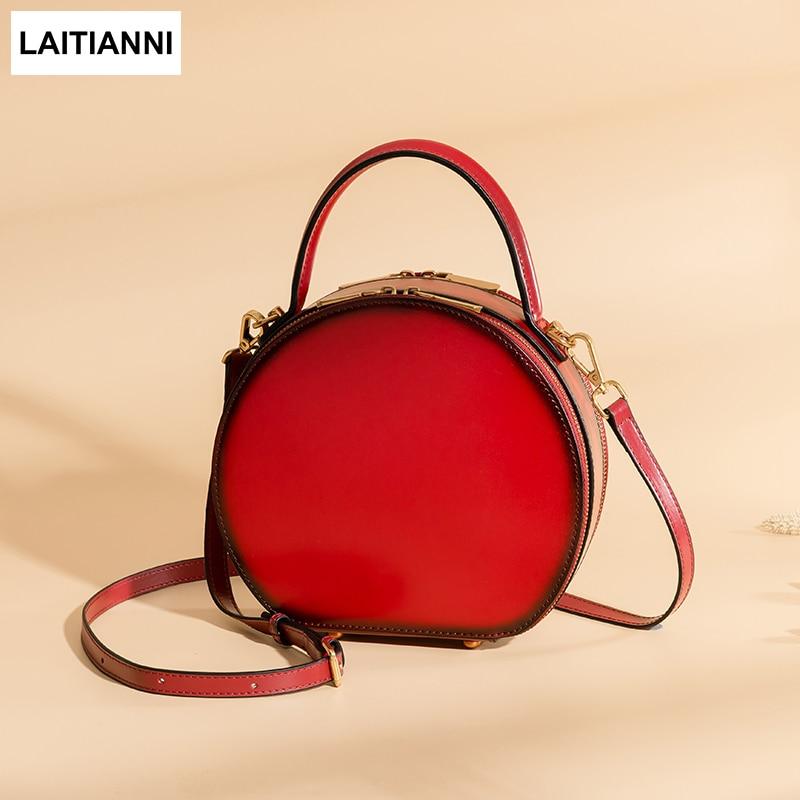 Round Bags Women Handmade Circular Messenger Bags Female Fashion Casual Purse Brand 2018 New Design Handbags Lady
