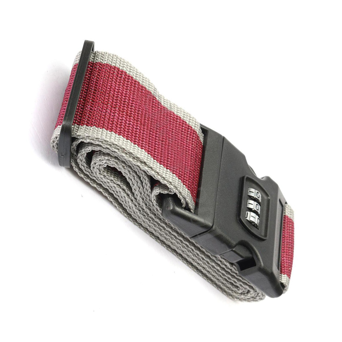 Safety belt Belt Lock Combination Travel Luggage Suitcase band color:gray red maritime safety