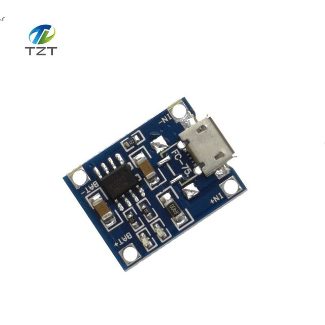 1ピースtp4056 1aリポバッテリー充電車載充電器モジュールリチウムバッテリーdiyマイクロポートマイク· usb