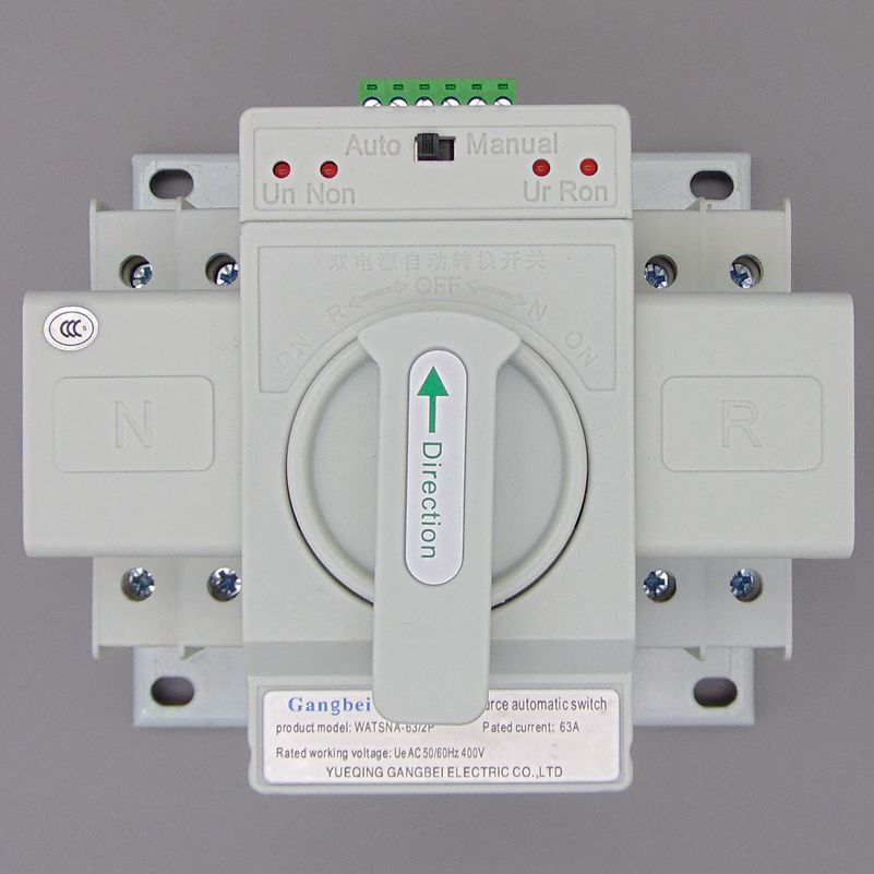 WATSNA-63 2P 63A 230V MCB type white color Dual Power Automatic transfer <font><b>switch</b></font> <font><b>ATS</b></font> Rated voltage 220V /380V Rated frequency 50/ image