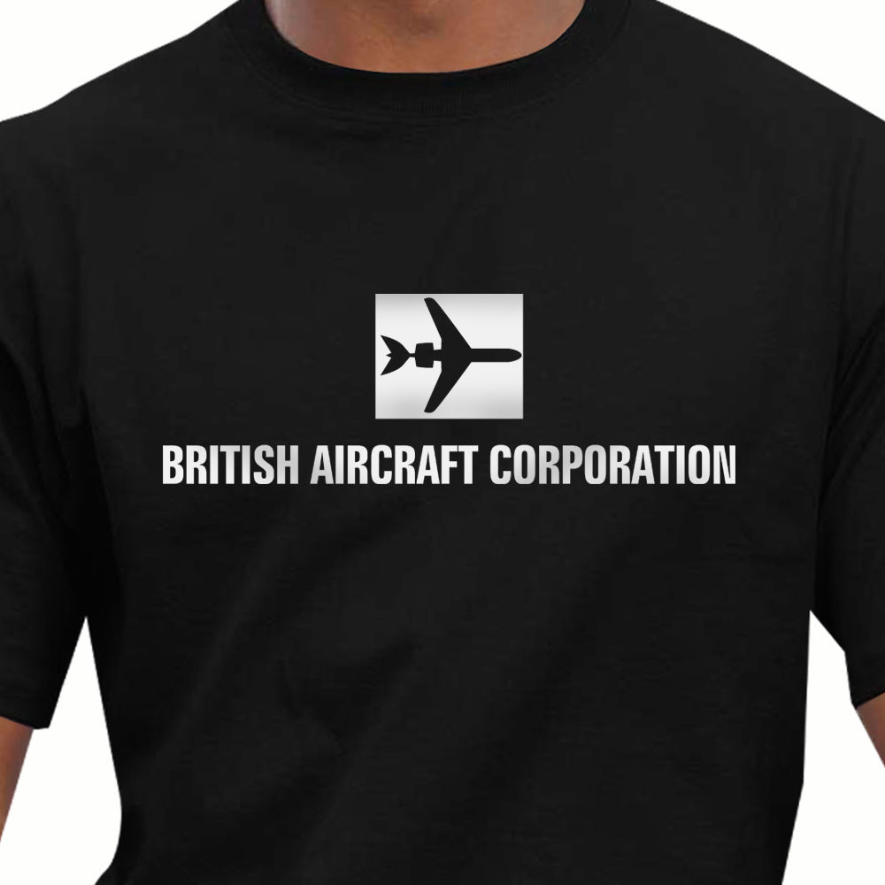 2018 Hot Sale 100% Cotton Retro BAC British Aircraft Corporation T-Shirt Summer Style Tee Shirt