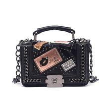 Women Top-handle Bags Women Handbags 2019 Brand Designer Chains Crossbody Bag For Women Rivet Sac Small Bags for Women X601