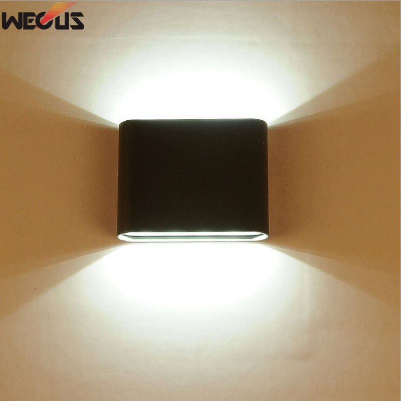 Al aire libre a prueba de agua IP65 Aplique Moderno Lámpara de pared LED Aplique de interior Iluminación decorativa Porche Jardín Luces Lámparas de pared