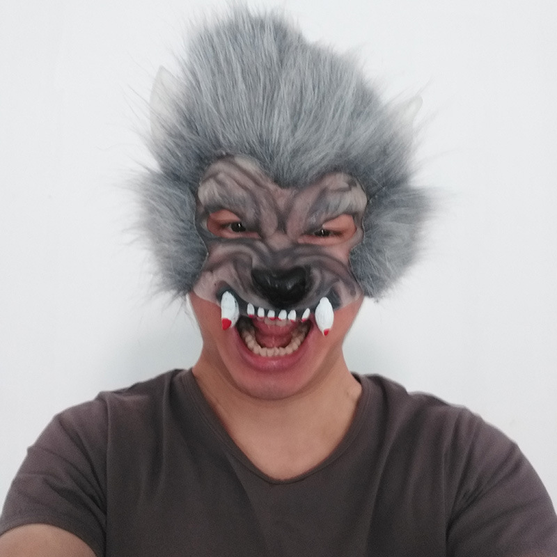 cosplay costume party cosplay  costume cool mask horor props devil mask latex wolf mask free size
