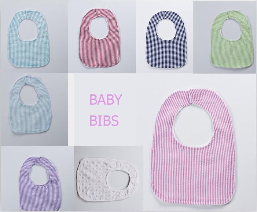 Mid-Year Sale hot sale baby bib wholesale seersucker minky toddler kid bibs swaddle embroidered seersucker chevron newborn bib
