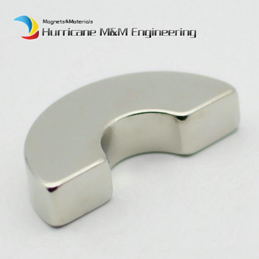 N42H NdFeB Segmento di Arco OR19xIR7x180deg. x10 mm Moto Magnete per I Generatori Turbina Eolica Magnete Al Neodimio Brushless Rotore