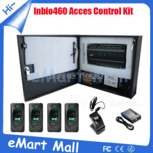 Wholesale inBio460 fingerprint access control panel+4 pcs FR1200 fingerprint reader and 1 pc ZK4500 +RFID Card reader