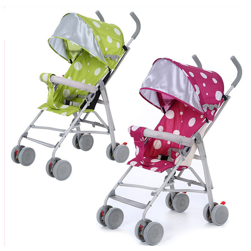 Factory Wholesale Lightweight Foldable Car Baby Stroller Four Wheels Baby Carriage Cart Portable Infant Travel System Pram 0~3 Y summer mosquito net travel folding portable four wheel cart carriage reversible car baby stroller lightweight pram pushchair
