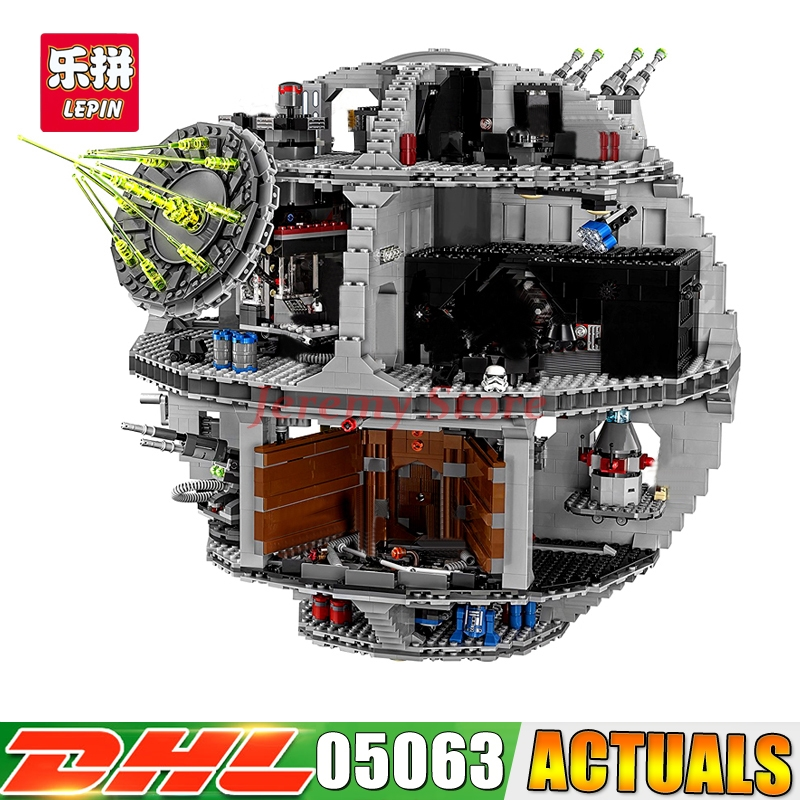 2017 Lepin 05063 Death Genuine UCS Star Rogue Wars Force Waken Building Blocks Brick Toy for Children 79159 DIY boys Gift 1pc imperial death trooper rogue one 75156 diy figures star wars superheroes assemble building blocks kids diy toys xmas