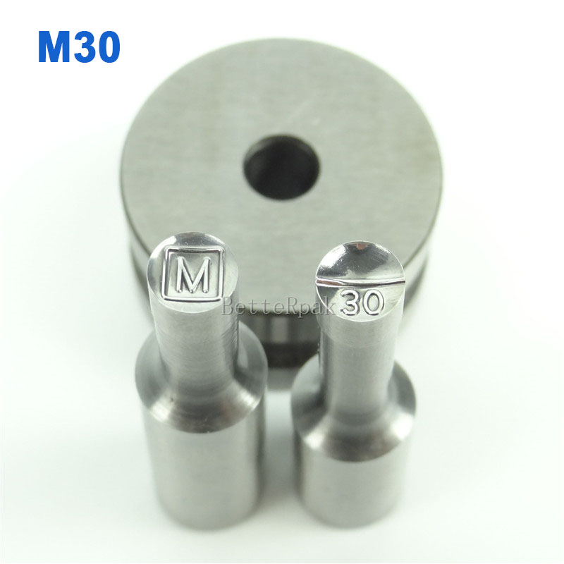 M30 BateRpak Stamp Circlar Round Die Mold/ Press Mold/Punch Die Mould/press die TDP-0/1.5T/5T(6mm) 1 set double punch tablet press machine digit round stamp applicable model tdp 1 5 tdp 5 tdp0 tdp 6