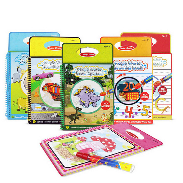 Magic Water Drawing Book Doodle Coloring With Pen Painting Board Juguetes Children Kids Educational