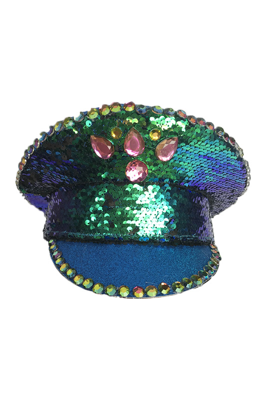 British Performance Cap Bright Slice Cap Stage Hat Patch Hat Adult Women Green Red Military Hat