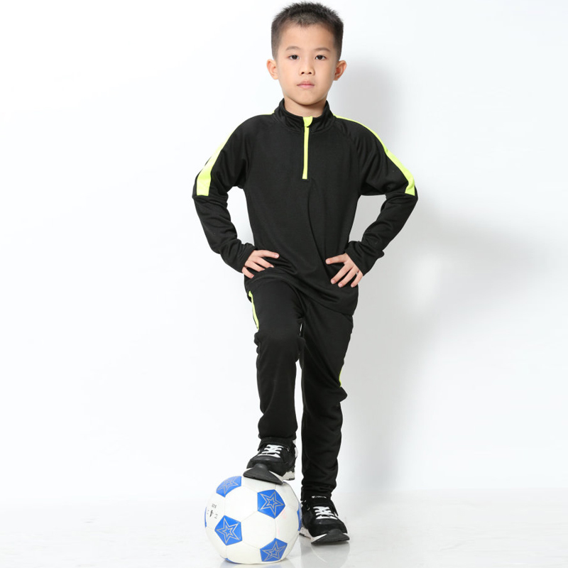 Survetement Kids Tracksuit Football 2018 Boys Soccer Training Jacket Suits Running Uniforms Kits Winter Sportswear Set Clothing 2019 boys long sleeve football jersey set kids training tracksuit school football uniforms soccer black red blue orange green