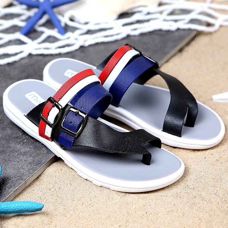 YEINSHAARS Men Summer Water Shoes Male Flip Flops Beach Shoes Comfortable Men Travel Slippers Comfortable Men Flats Slippers in Flip Flops from Shoes