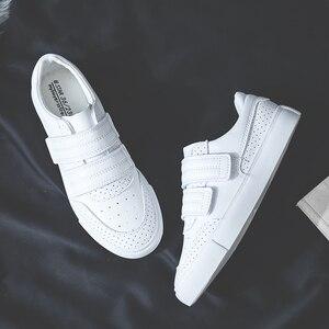 Image 5 - Женские кроссовки SWYIVY, Белые Повседневные кроссовки на платформе, с петля на заднике кроссовок и петлей, осень 2019