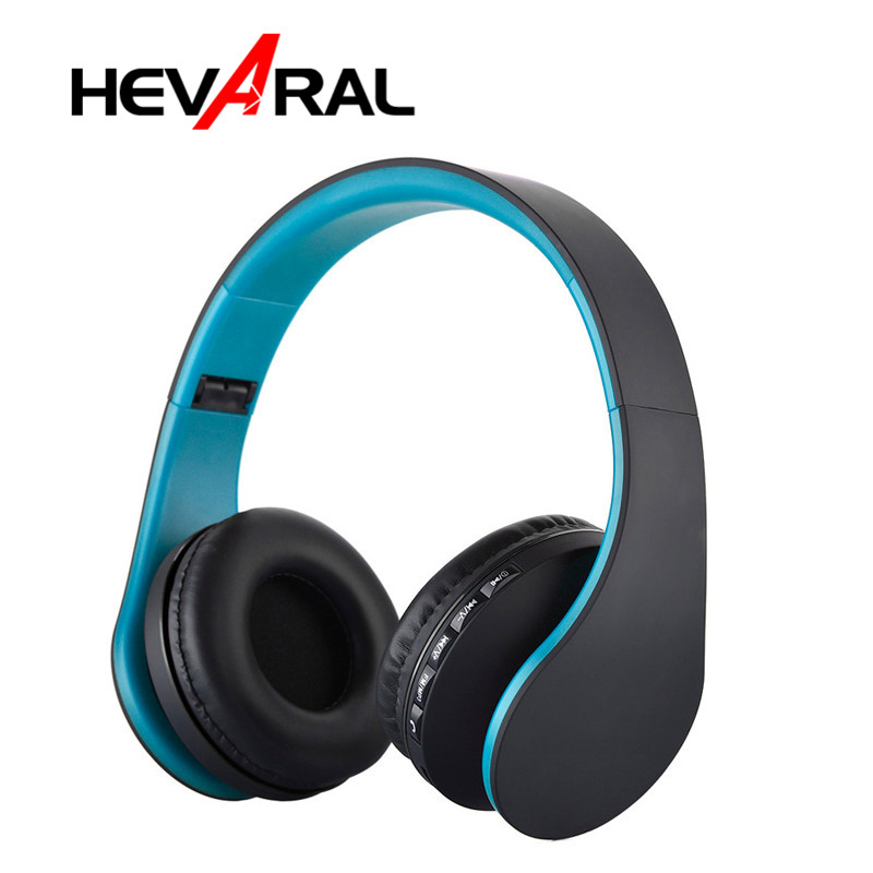 Wireless Headphones <font><b>Bluetooth</b></font> Headset With Microphone <font><b>Earphone</b></font> Stereo Fm Radio TF Card Auriculares For Samsung S7 <font><b>S6</b></font> Phones TV image