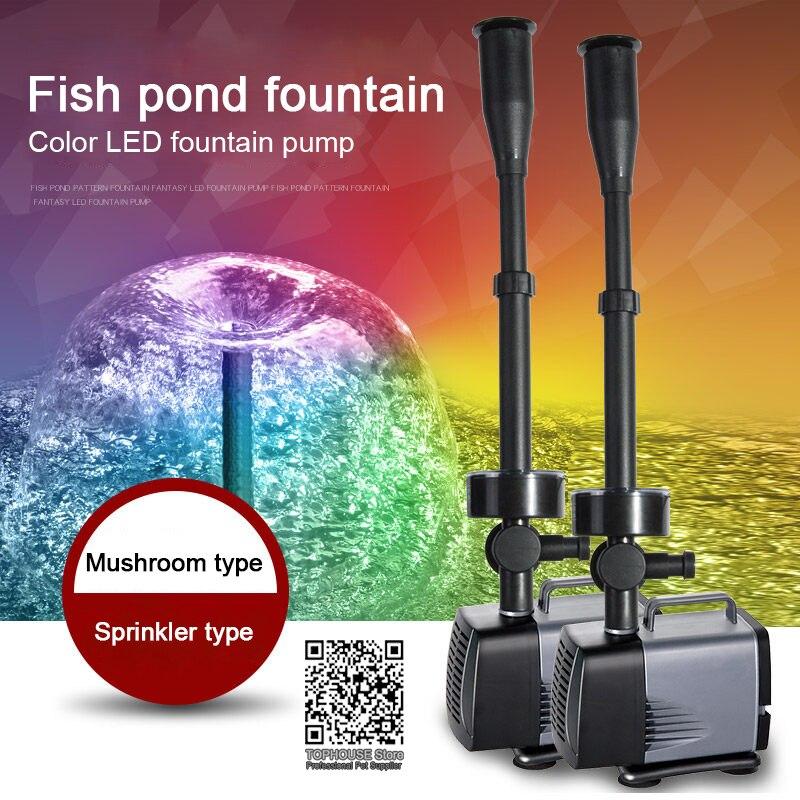 LED fountain pump flashing light 40W 45W 75W 85W 100W submersible water pump fountain maker garden