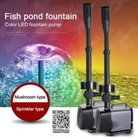 LED fountain pump flashing light 40W/45W/75W/85W/100W submersible water pump fountain maker garden pool fish pond fountain pump