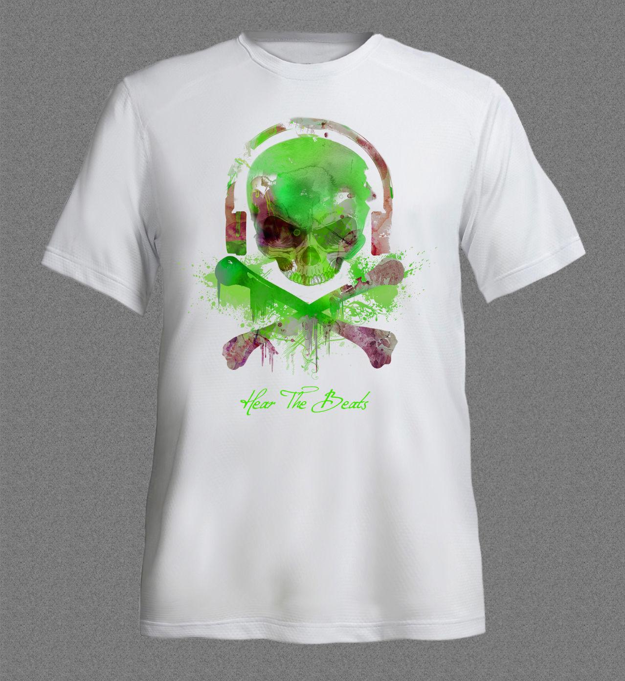 Design t shirt china - Design T Shirt Men S High Quality Ibiza Techno Dance Music Rave Skull House Dj Club Acid